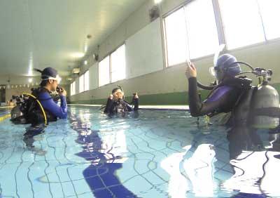 プール講習の様子